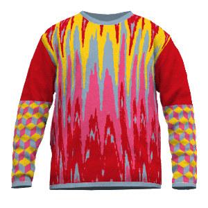 Jacquard Pullover Zigzag