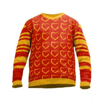 Knit sweater with hearts