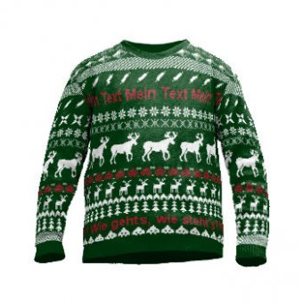 Knit sweater with reindeer