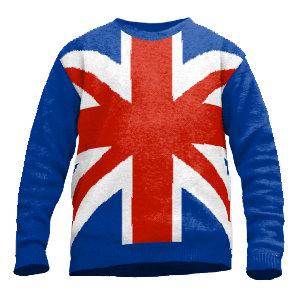 Pullover Union Jack gestrickt