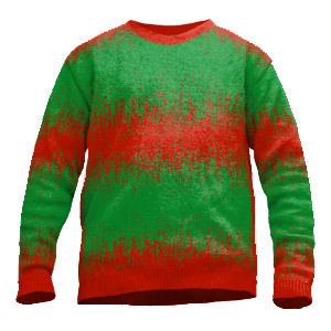 Knit Sweater color gradient