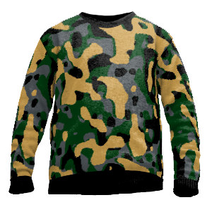 Knit sweater camouflage
