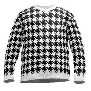 Knit sweater pepita