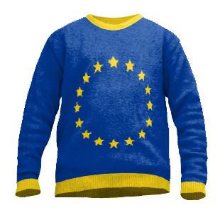 European knit sweater