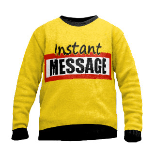 Instant message sweater