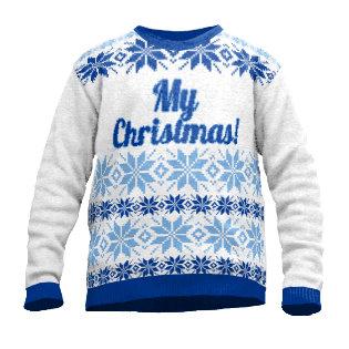 Christmas sweater snow
