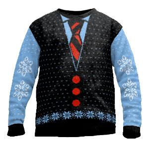 Tie shirt sweater