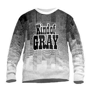 Eine Art grauer Pullover