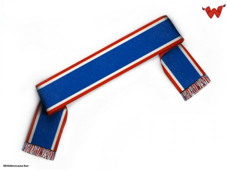 Football scarf with stripes