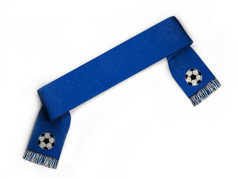 Schal gestalten Fussball Clipart Fanschal blau weiss