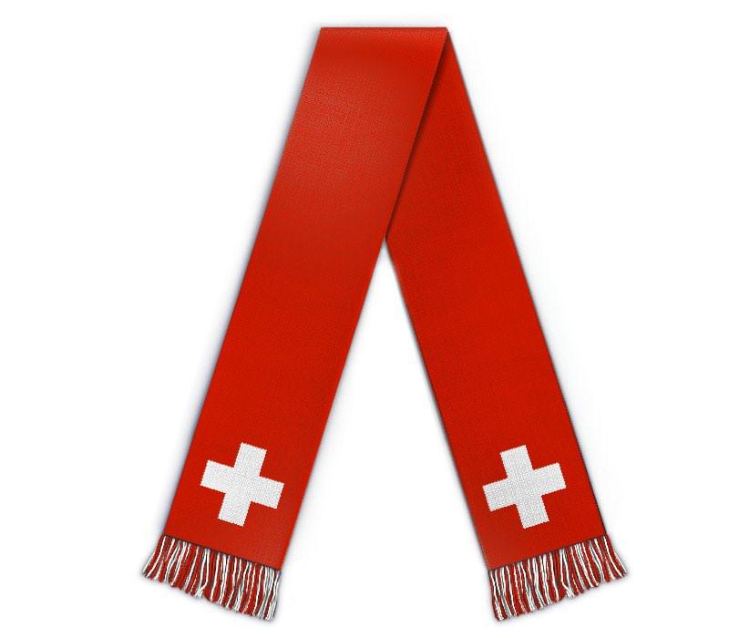 Fanschal Schweiz Schal selbst gestalten