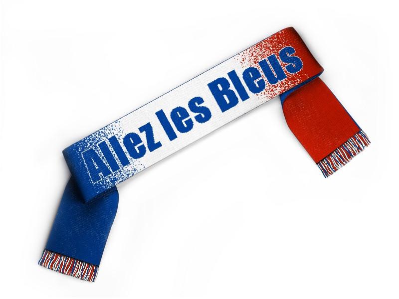 Fanschal Frankreich Schal selbst gestalten