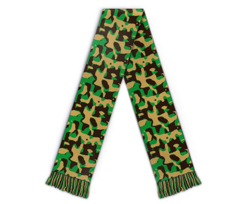 Fanschal Flecktarn gestalten, Camouflage Schal