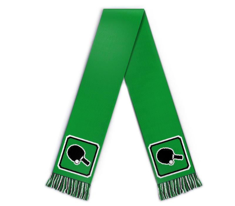 Fanschal Tischtennis Schal gestalten mit Name Logo
