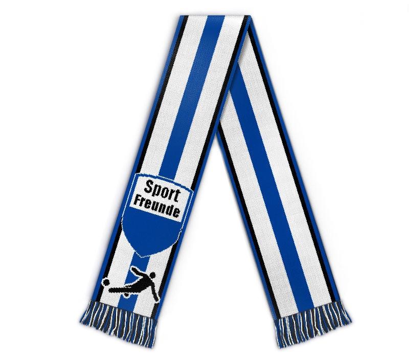 Fanschal Sportfreunde Schal gestalten, mit Name, Verein, Logo
