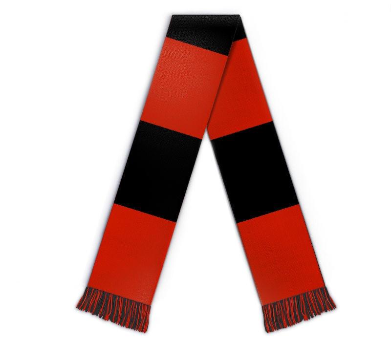 Fanschal Blockstreifen, Schal gestalten mit Text, Name, Wappen