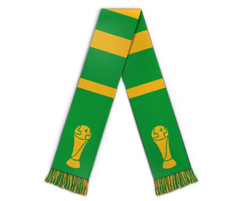 Fanschal Pokal Schal selbst gestalten, mit Text Logo
