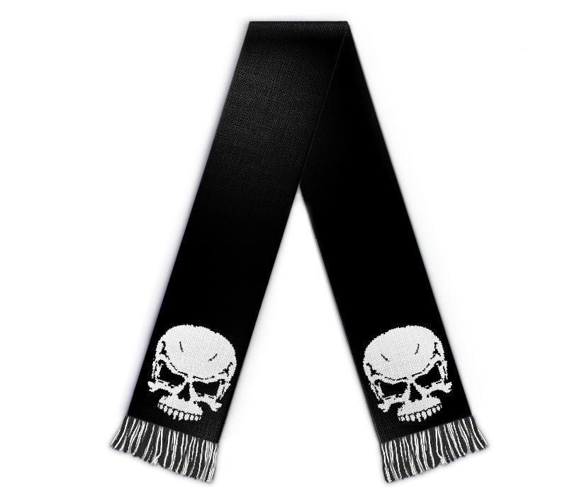 Fanschal Totenkopf Schal selbst gestalten