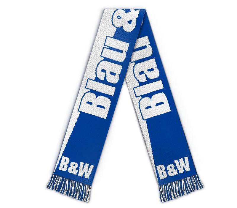 Fanschal Blau Weiß Schal selbst gestalten