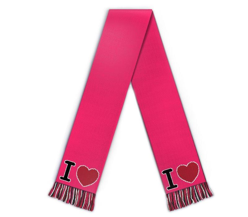 Schal I Love selbst gestalten Fanschal mit Herz