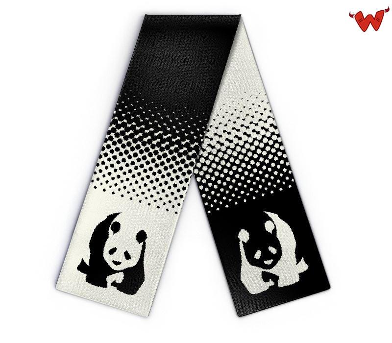 design schal panda individuell strickschal selbst gestalten wildemasche. Black Bedroom Furniture Sets. Home Design Ideas
