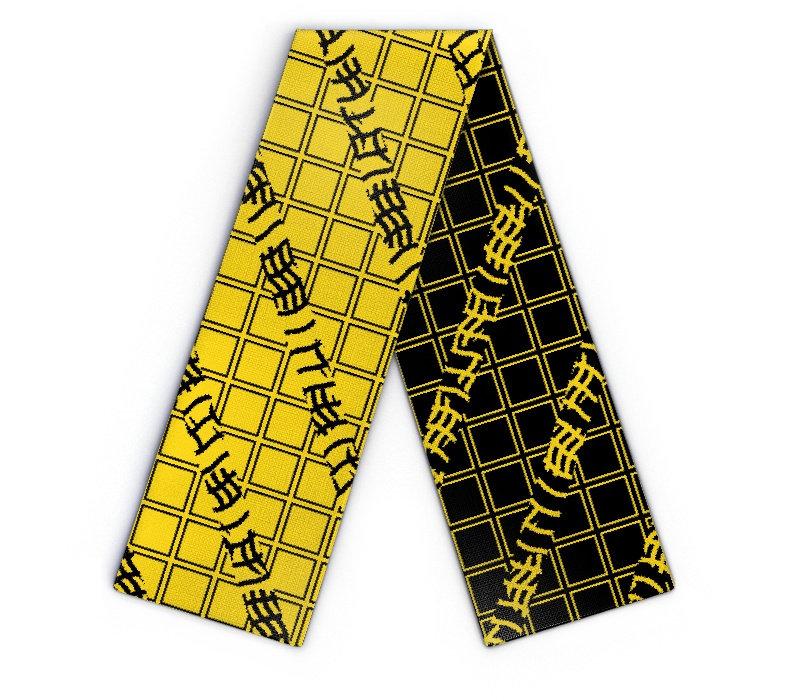 schal schwarz gelb ab 1 stk selbst gestalten wildemasche. Black Bedroom Furniture Sets. Home Design Ideas
