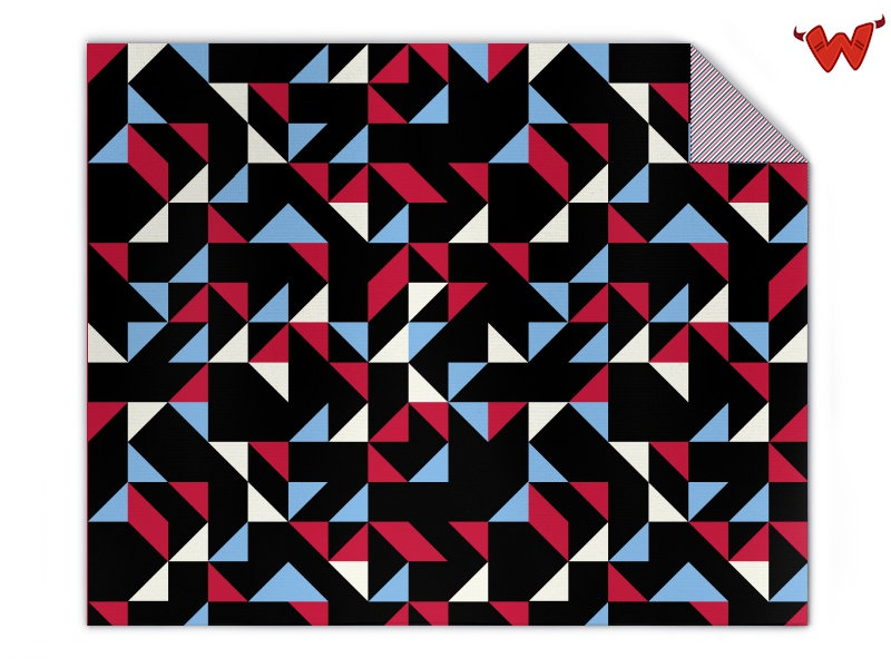 Strickdecke Retro Dreiecke selbst gestalten | Wildemasche
