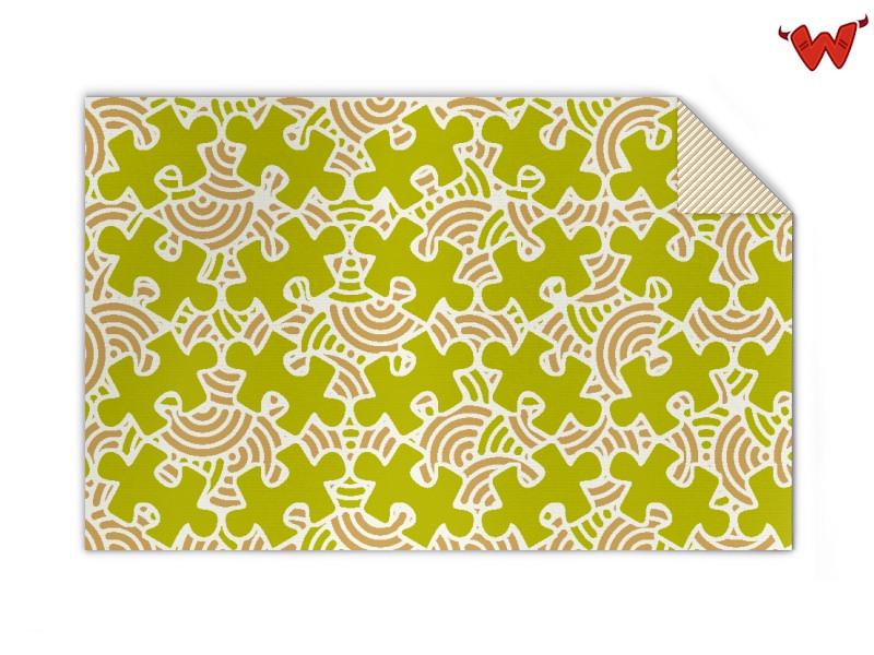 Kinder Strickdecke 4-farb mit Muster gestalten | Wildemasche