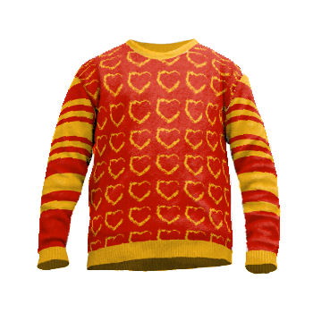 Knit sweater with hearts  520af5852