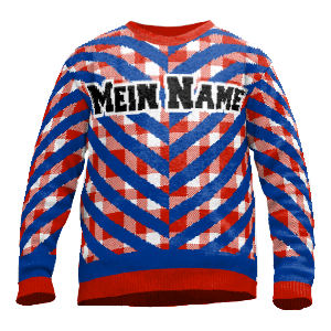 Knit sweater with name