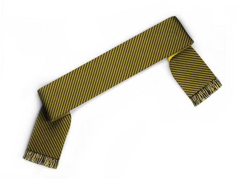 Schal gestalten Fanschal mit dünnen Streifen schwarz gelb