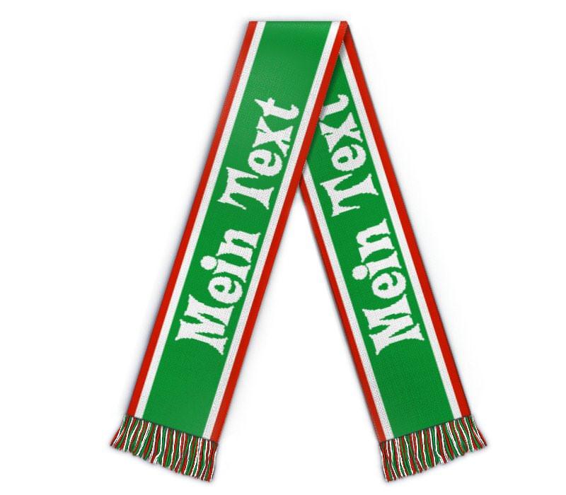 Schal gestalten Fanschal mit Streifen grün weiss
