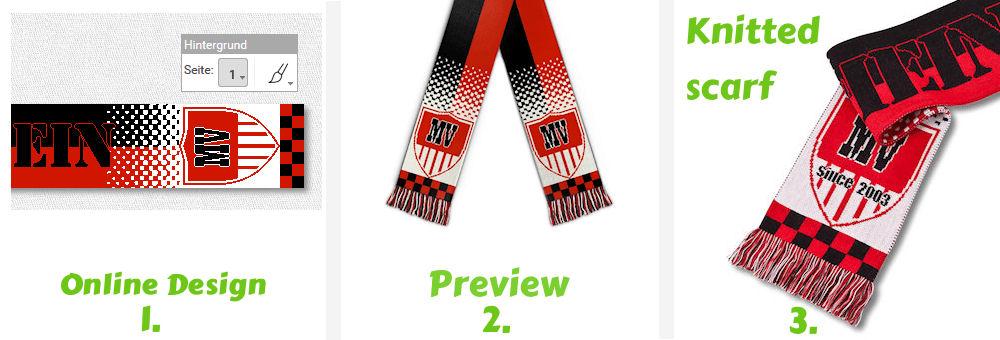 Custom football scarves