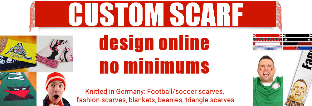 Custom football scarf